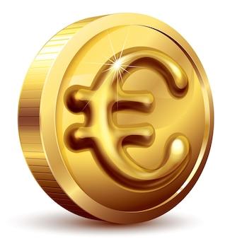Goldmünze mit eurozeichen