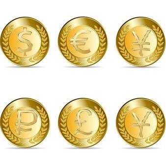 Goldmünze mit yen-zeichen.