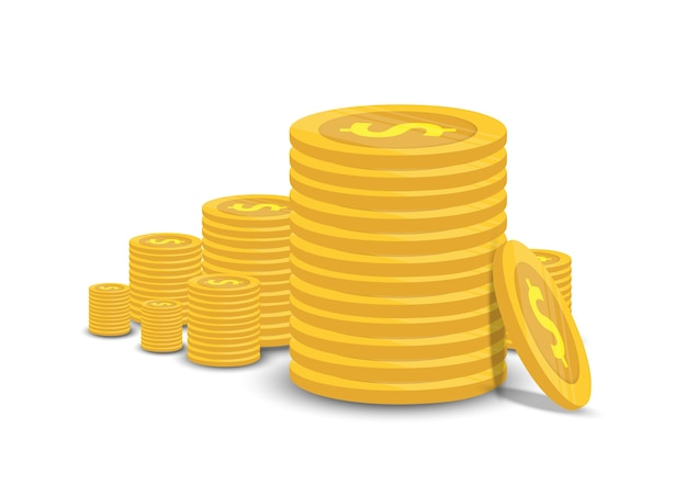 Goldmünzen und geschäftsfinanzisolat