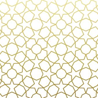Goldmuster im arabischen muster. geometrischer dekorativer hintergrund des traditionellen arabischen ostens.