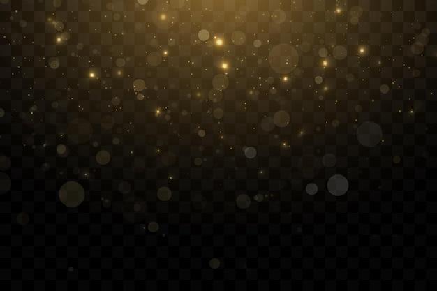 Goldpartikel lichteffekt goldstaub hintergrunddekoration