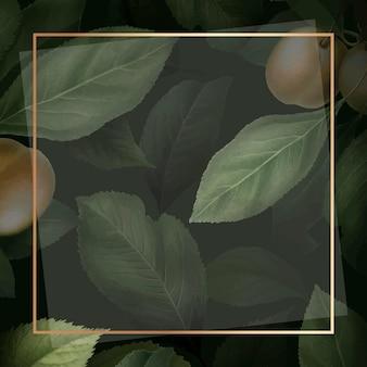 Goldrahmen auf briançon-aprikosenhintergrund
