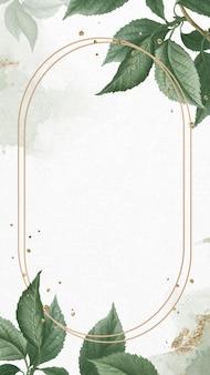 Goldrahmen auf briançon-aprikosenmuster-mobilem bildschirmschablonenvektor