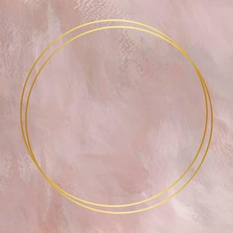 Goldrahmen auf rosa hintergrund