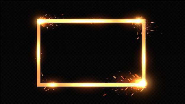 Goldrahmen für text.