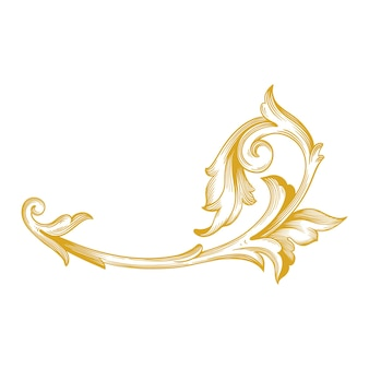 Goldrand und rahmen im barockstil. ornamentelemente
