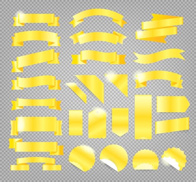 Goldretrostilbänder, -marken und -embleme getrennt