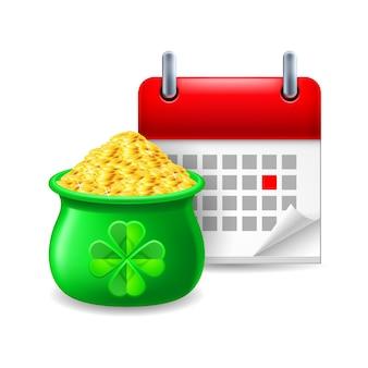 Goldschatz und kalender