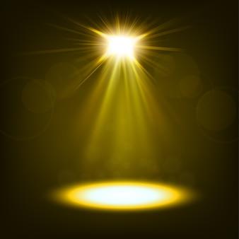 Goldscheinwerfer glänzend