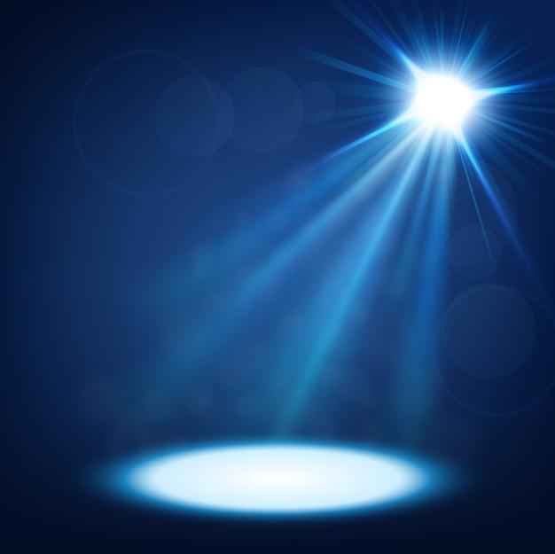 Goldscheinwerfer mit linseneffekt beleuchtet