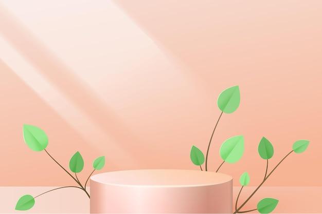 Goldsockel auf einem rosa