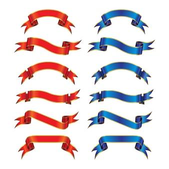 Goldstreifen-rote u. blaue sammlung