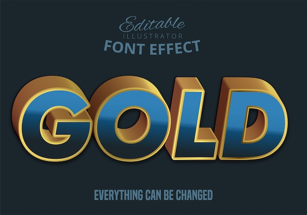 Goldtext, bearbeitbare textart