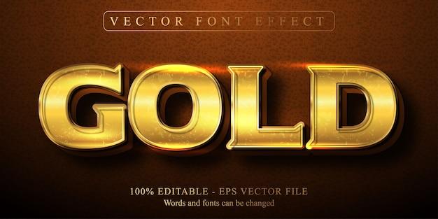 Goldtext, bearbeitbarer texteffekt im glänzenden goldenen stil