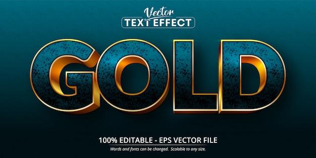 Goldtext, bearbeitbarer texteffekt im glänzenden goldstil