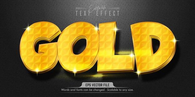 Goldtext, bearbeitbarer texteffekt im goldstil