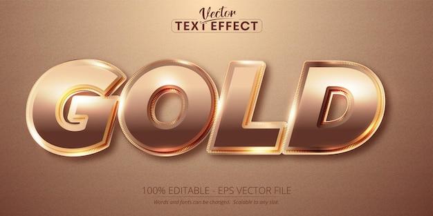 Goldtext, glänzender roségoldfarbener stil, bearbeitbarer texteffekt