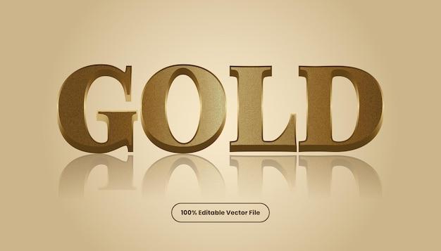 Goldtexteffektvektor. bearbeitbarer eleganter und reichhaltiger textstil.