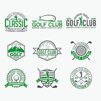 Golf badges-aufkleber und logos