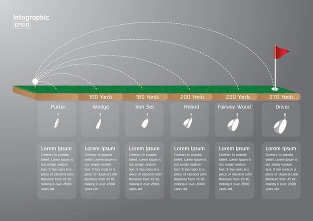 Golf, business-schritt-optionen