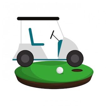 Golf cart auf dem camp spielen