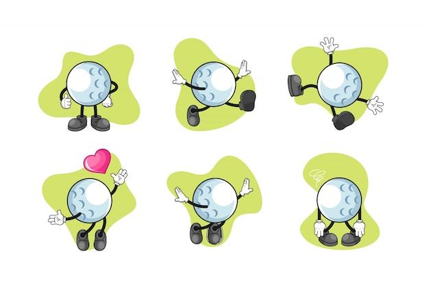 Golf cartoon zeichensatz
