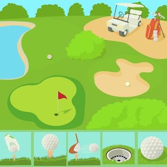 Golf feld konzept