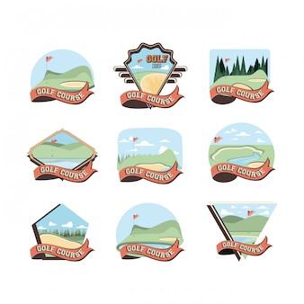 Golf flüche szenen symbole