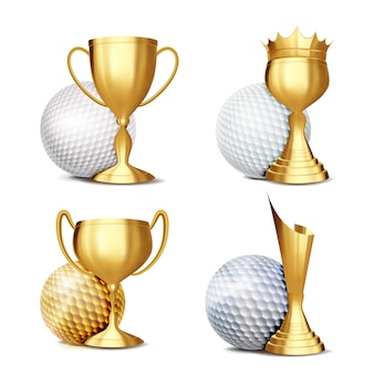 Golf game award set