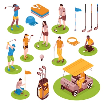 Golf isometrische elementsatz