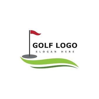 Golf logo vorlage vektor illustration icon design