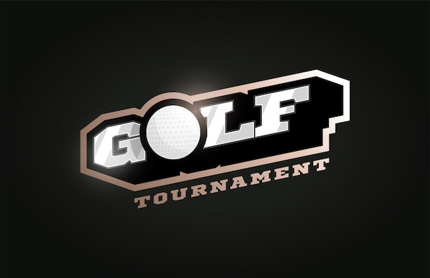 Golf modernes profi-sport-logo im retro-stil