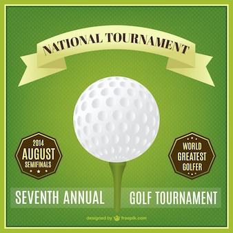 Golf nationalen turnier plakat