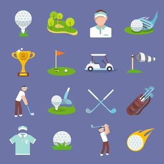 Golf-symbol flach