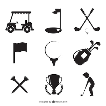 Golf symbole gesetzt