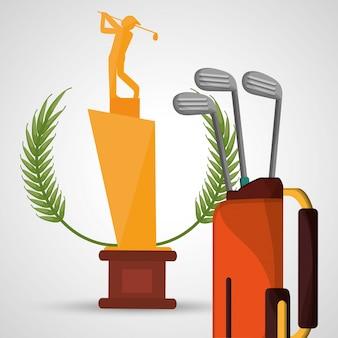 Golf-trophäe-tasche clubs sport