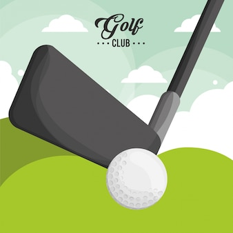 Golfclub ball poster