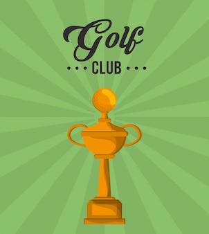 Golfclub gold trophy gewinner
