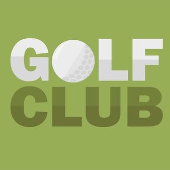 Golfclub-logo-design-vorlage im flachen stil. flyer-design im einfachen flachen stil. vektor-illustration