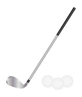 Golfclub und golfball