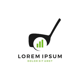 Golfplatz ausbildung entwicklung diagramm bar logo