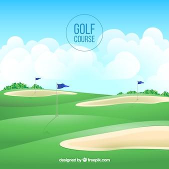 Golfplatzhintergrund in der realistischen art
