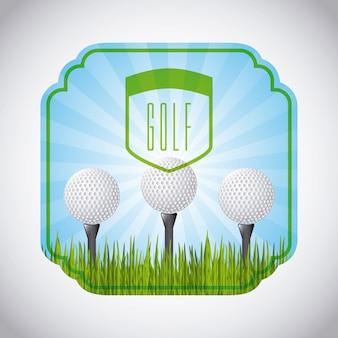 Golfschläger-emblem