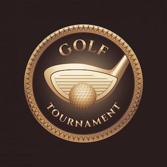 Golfschläger, golfplatzlogo