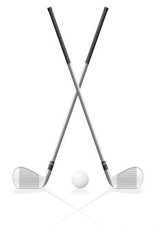 Golfschläger und ball.