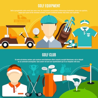 Golfspiel-horizontale fahnen