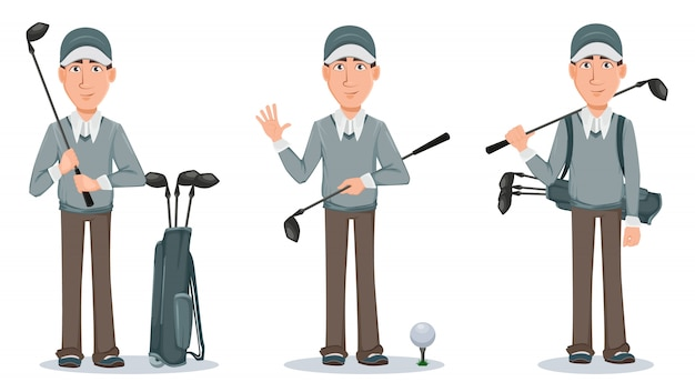 Golfspieler, hübscher golfspieler