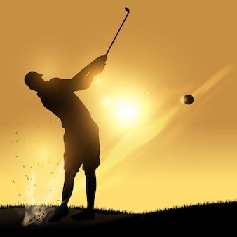 Golfspieler schwingen