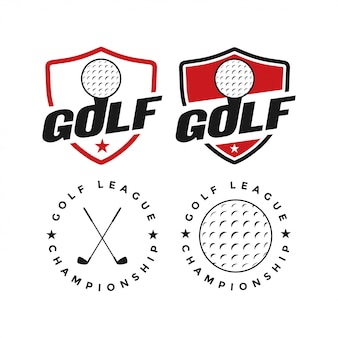 Golfsportvektor-grafikdesigninspiration