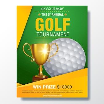 Golfturnier plakat vorlage